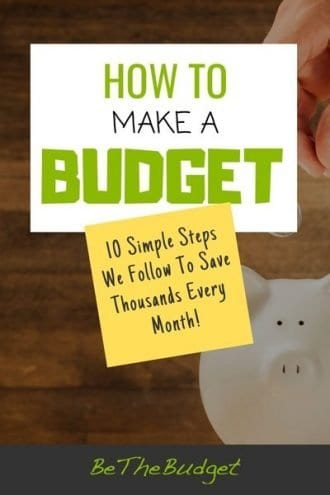How to make a budget | 10 simple steps to save thousands every month | BeTheBudget
