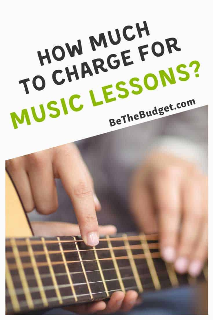 How much to charge for music lessons | Be The Budget