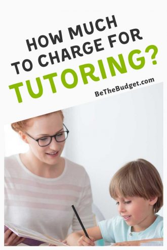 How much to charge for tutoring | Be The Budget