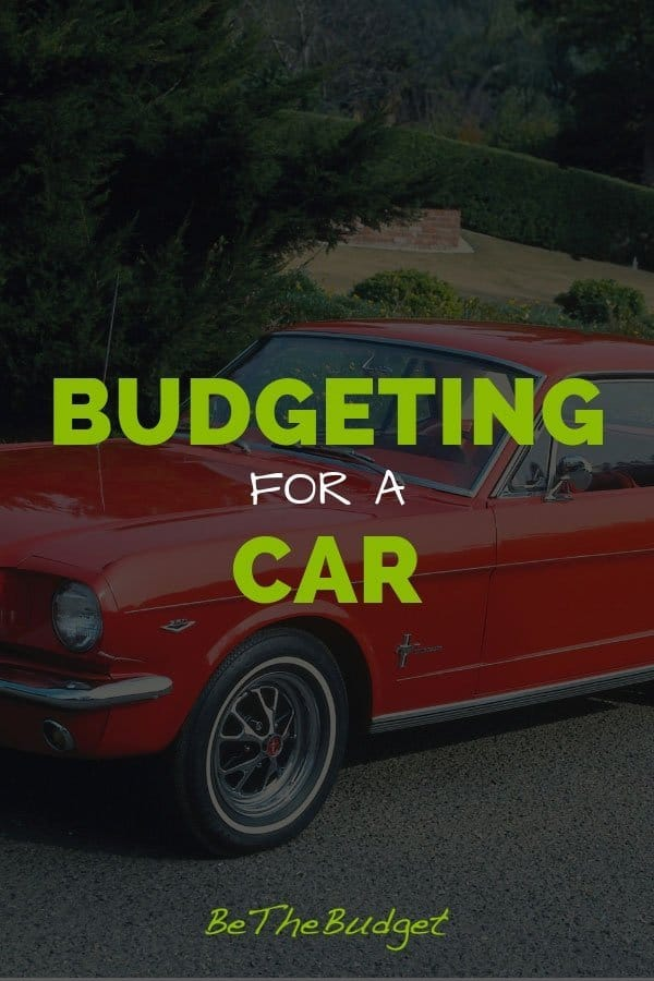 "image of a red car that says ""budgeting for a car"""