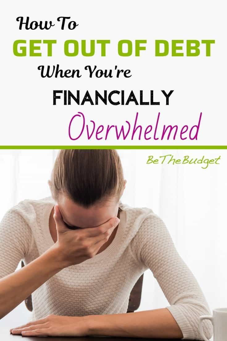 How To Get Out Of Debt When You're Financially Overwhelmed | BeTheBudget