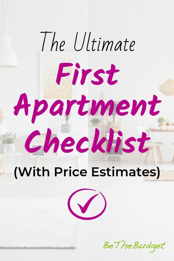 The Ultimate First Apartment Checklist | BeTheBudget