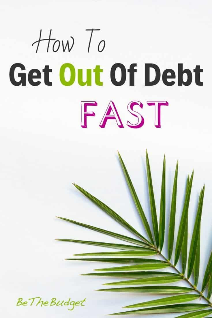 How To Get Out Of Debt Fast (Even On A Low Income)   BeTheBudget