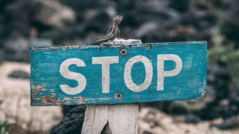 Blue stop sign | BeTheBudget
