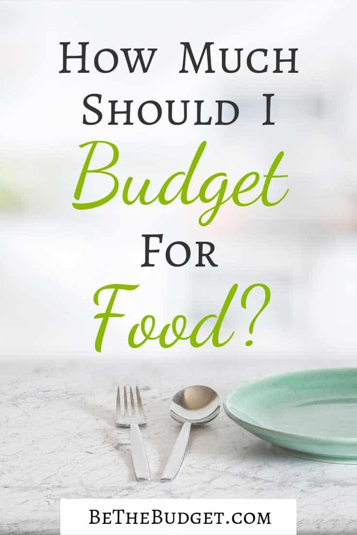 How Much Should I Budget For Food? Whether you are setting up a food budget for 1, a food budget for 2, a food budget for your family, or just wondering what is a realistic food budget each month, this article is for you. www.bethebudget.com #foodbudget #foodbudgetfor1 #foodbudgetfor2 #foodbudgetfamily