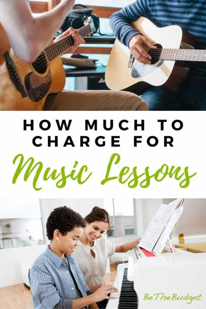 How much to charge for music lessons   How to price your music lessons   Teach music   Music lesson tips   BeTheBudget.com