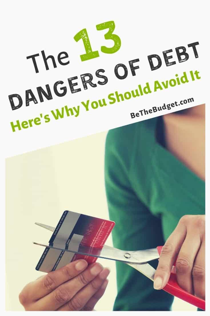 The Dangers Of Debt: 13 Reasons You Should Avoid It | Be The Budget