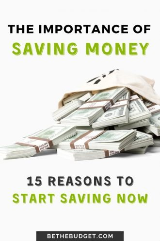 The Importance Of Saving Money: 15 Reasons Why You Should Start Saving Now | Be The Budget