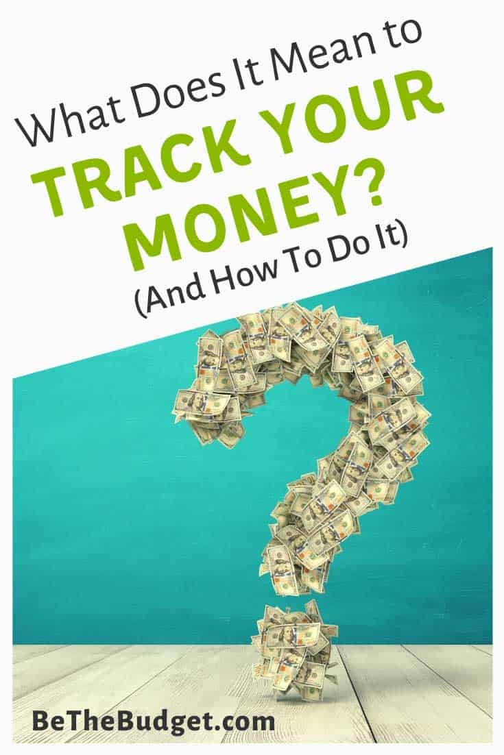 what does it mean to track your money
