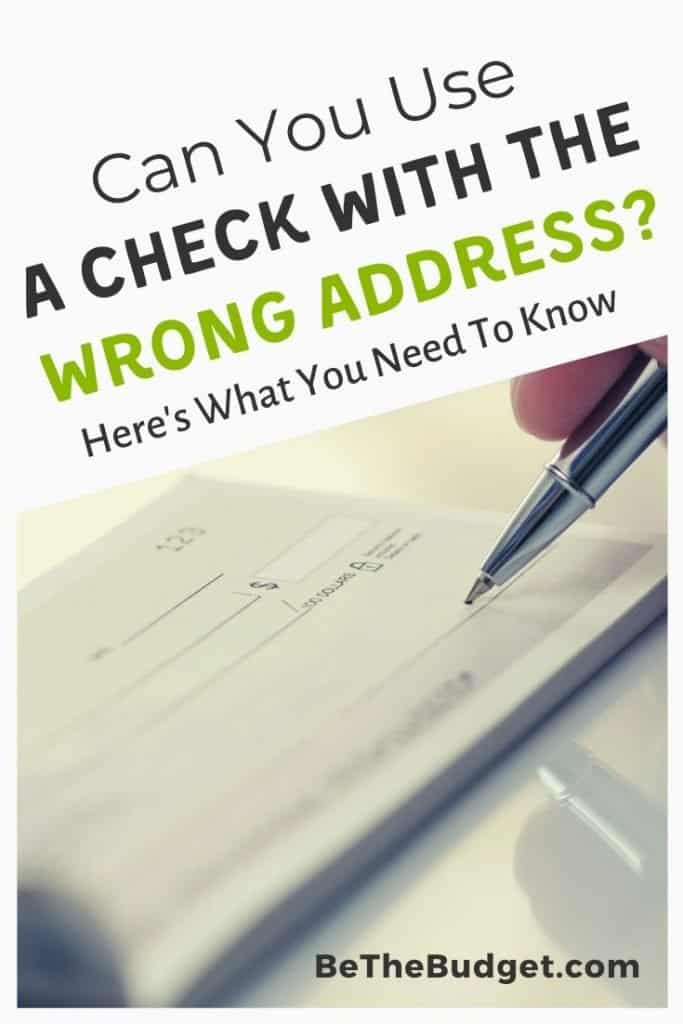 Can you use a check with the wrong address? Here's what you need to know | Be the Budget