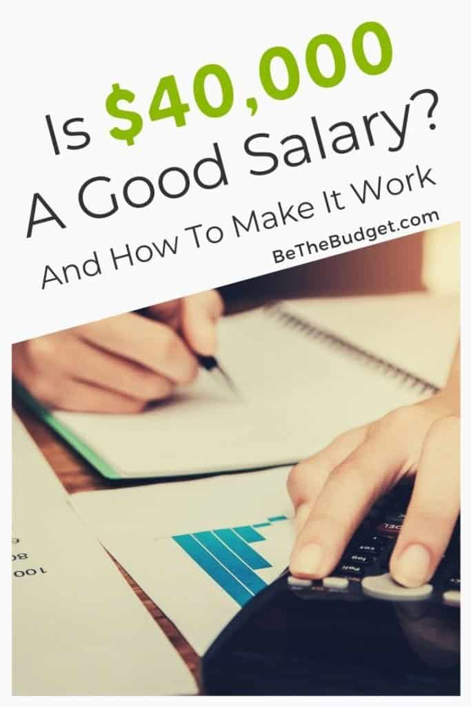 Is 40000 a good salary | Be the Budget