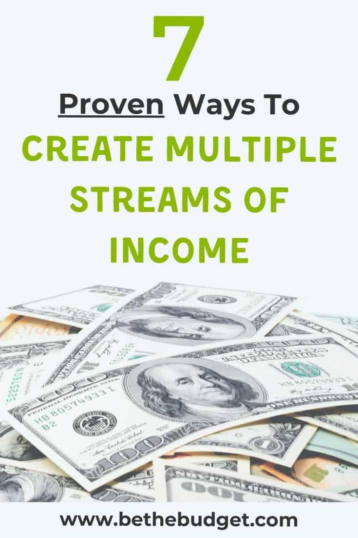 Create multiple streams of income | Be The Budget