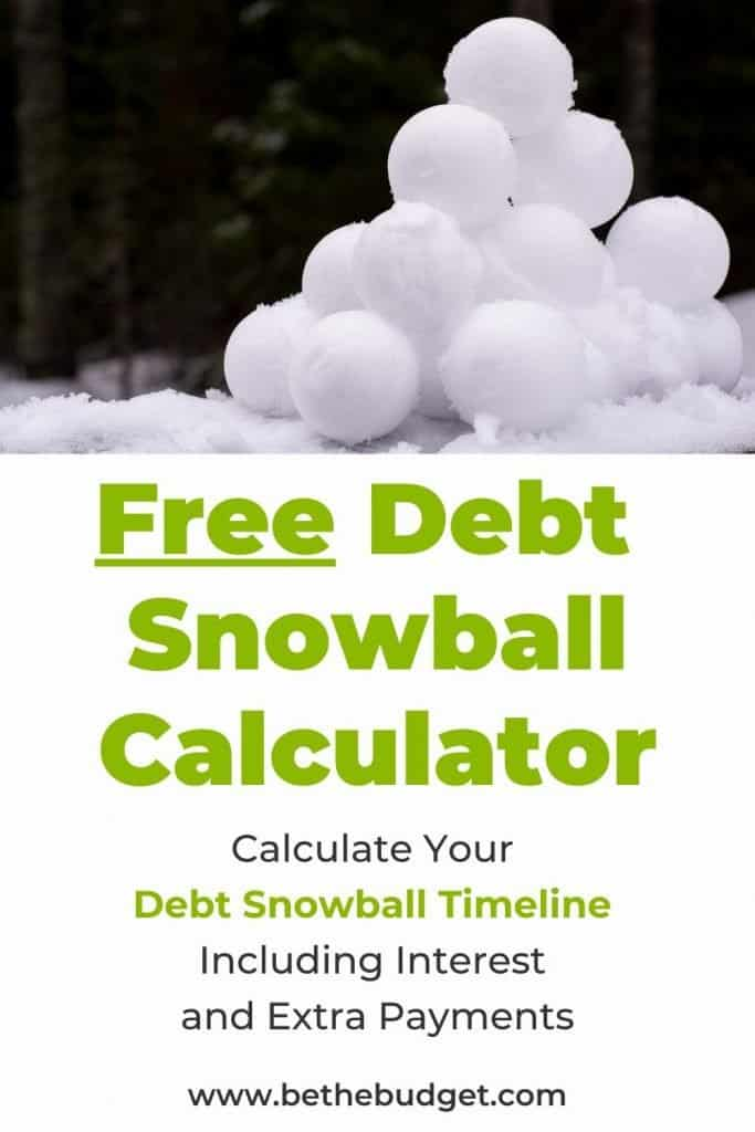Free Debt Snowball Calculator | Be The Budget
