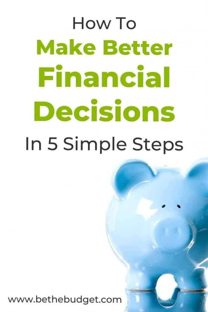 How to make better financial decisions: 5 simple steps   Be The Budget