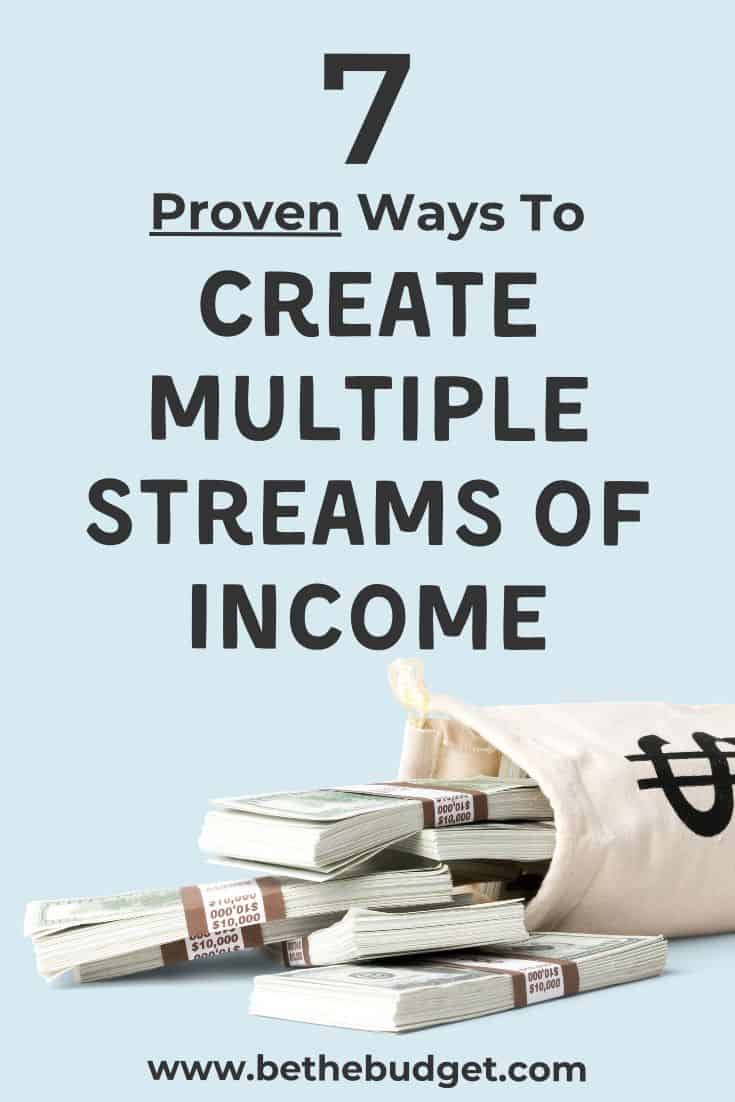 7 proven ways to create multiple streams of income | Be The Budget