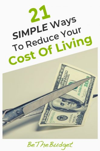 21 Simple Ways To Reduce Your Cost Of Living | Be The Budget