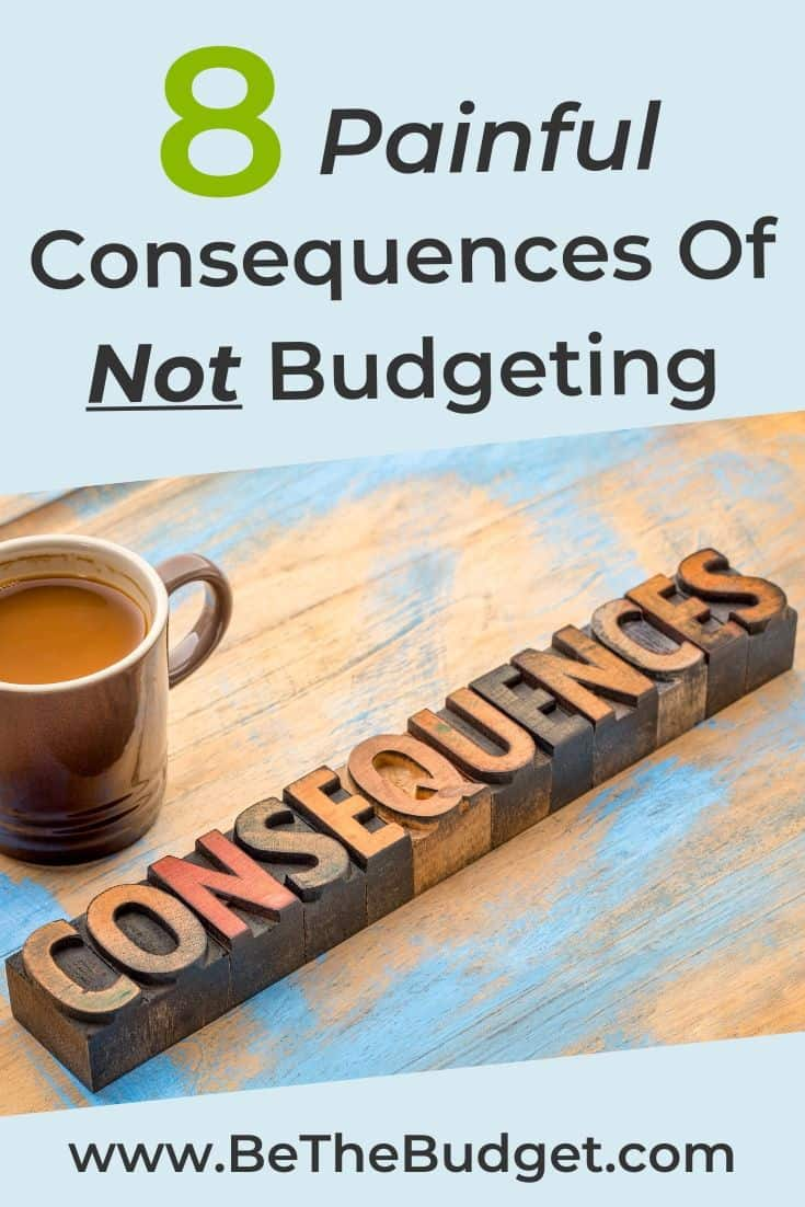 Consequences Of Not Budgeting | Be The Budget
