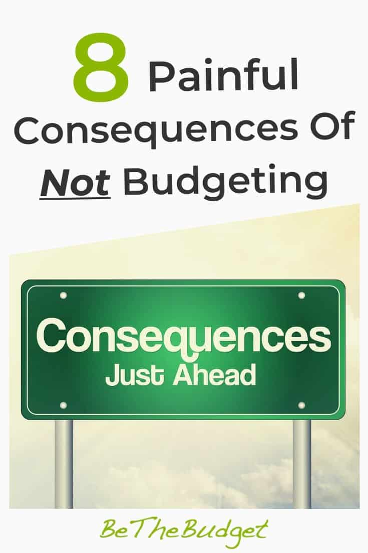 8 Painful Consequences Of Not Budgeting | Be The Budget