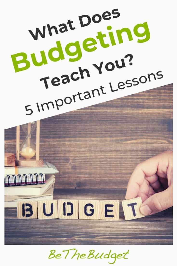What does budgeting teach you? | Be The Budget