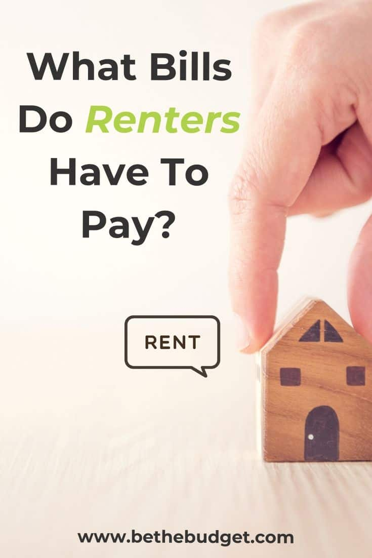 Bills That Renters Have To Pay | Be The Budget