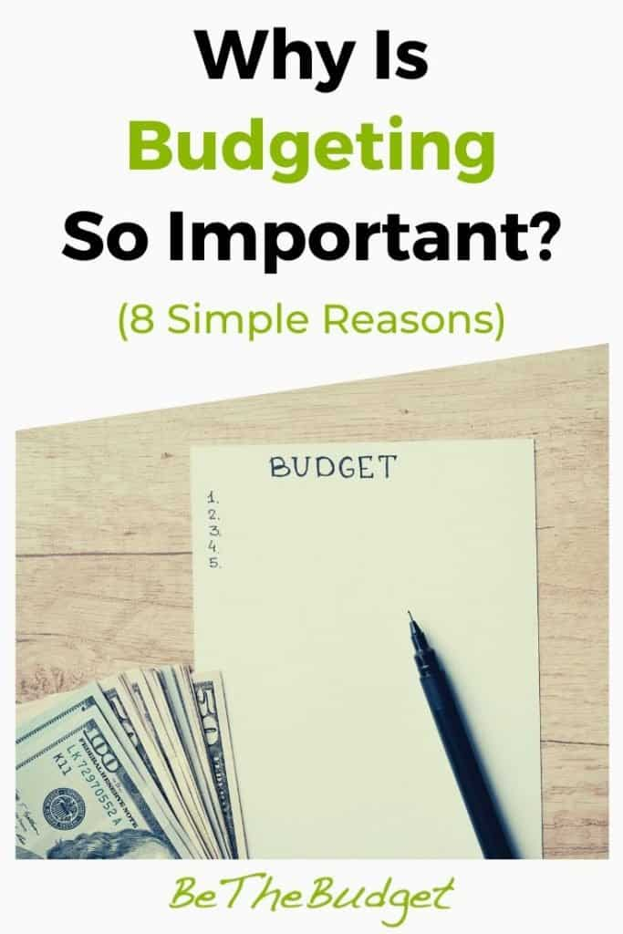 8 Reasons Why Budgeting Is Important | Be The Budget