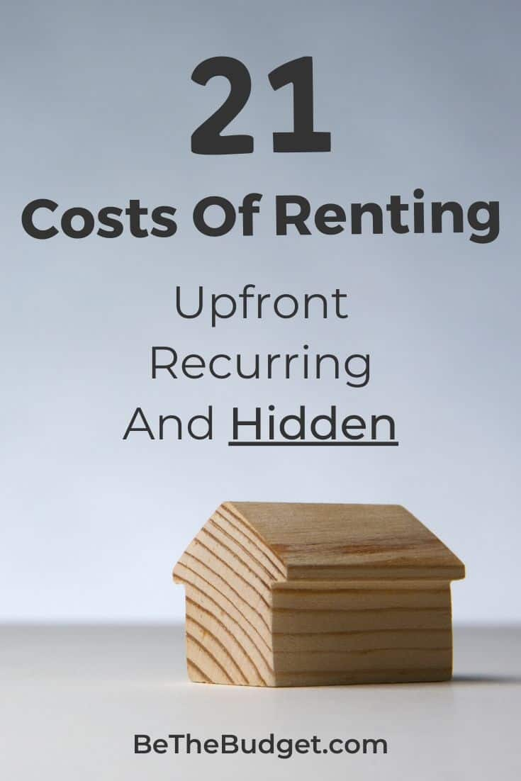 21 costs of renting | Be The Budget