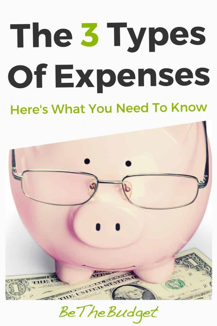 The Three Types Of Expenses | Be The Budget