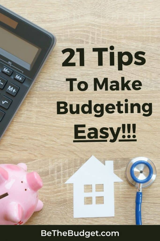 Tips To Make Budgeting Easy | Be The Budget