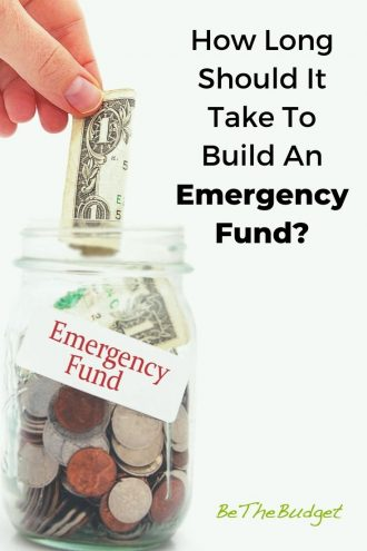 How long does it take to build an emergency fund? | Be The Budget