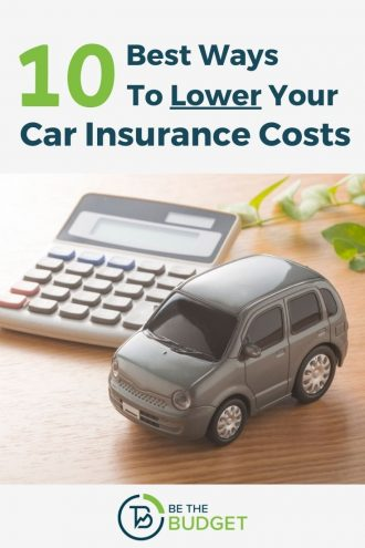 10 best ways to lower your car insurance costs | Be The Budget
