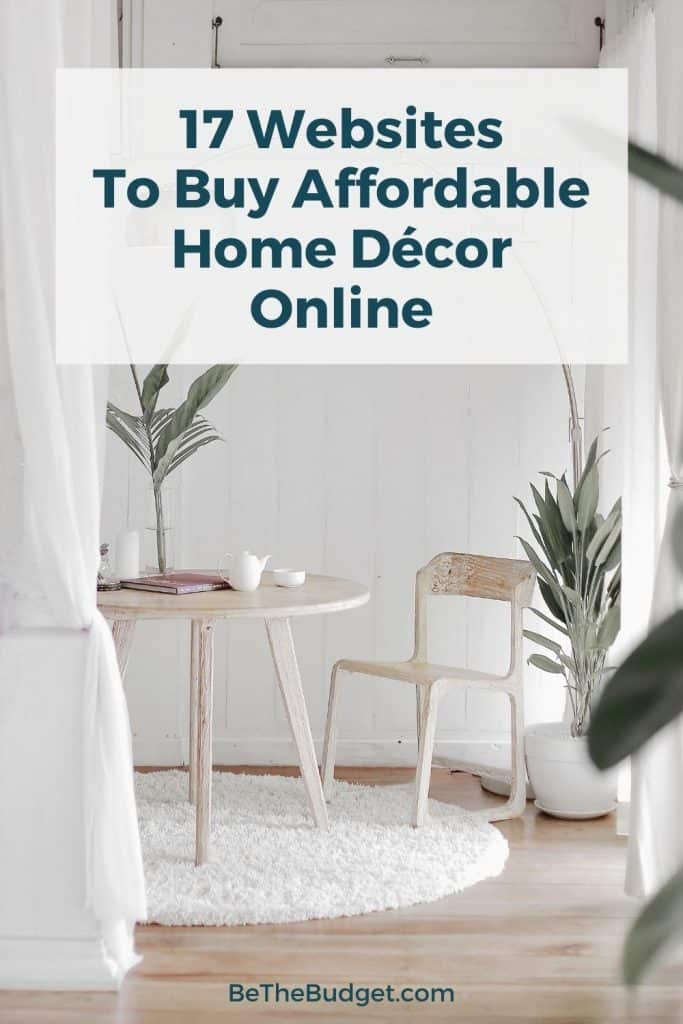 Where to find affordable home decor online | Be The Budget