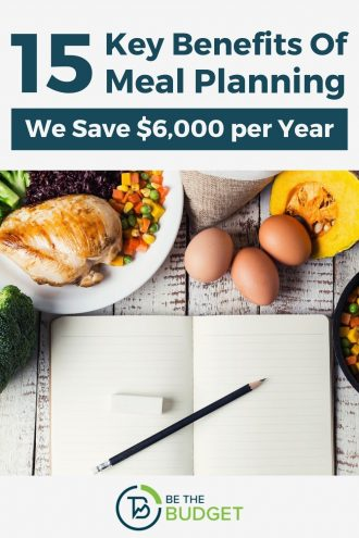 15 key benefits of meal planning: We save $6,000 per year | Be The Budget