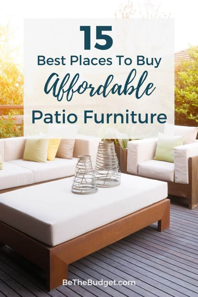 Where to buy affordable patio furniture: 15 best places | Be The Budget
