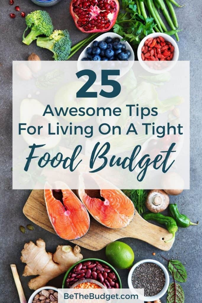 25 Awesome Tips For Living On A Tight Food Budget | Be The Budget