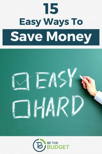 15 easy ways to save money each month | Be The Budget