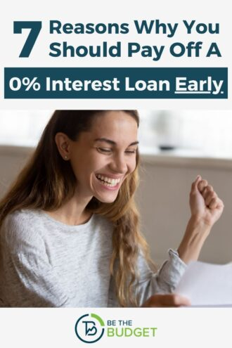 7 Reasons Why You Should Pay Off A 0% Interest Loan Early   Be The Budget